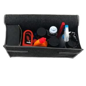 Image 4 - Auto Lagerung Tragbare Faltbare Mehrzweck Fühlte Tuch Falten Lagerung Box Organizer Fall Tools Auto organizer box für Auto Lkw
