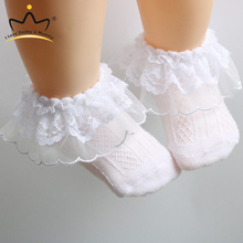 Spring Summer Soft Cotton Newborn Floor Baby Shoes Todder Crib Shoes Lace Floral Princess Newborn Baby Girl Socks cheap I LOVE DADDY MUMMY Cotton Fabric CN(Origin) Baby Girls Maternity 0-6m 7-12m 13-24m Flower Elastic band First Walkers Fits true to size take your normal size