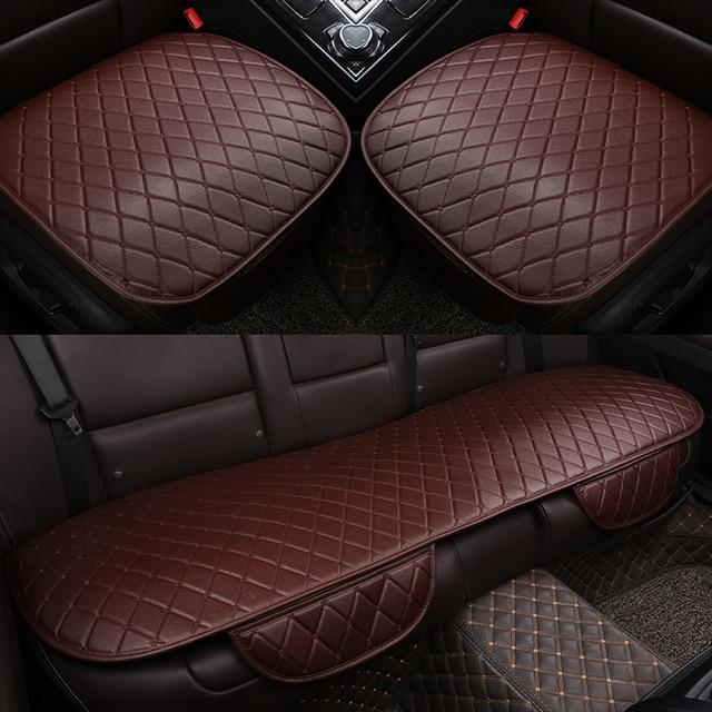 Uniwersalna skórzana poduszka na siedzenie samochodu przód tylne tylne siedzenie pokrycie siedzenia Auto na fotel mata ochronna Pad wyposażenie wnętrza
