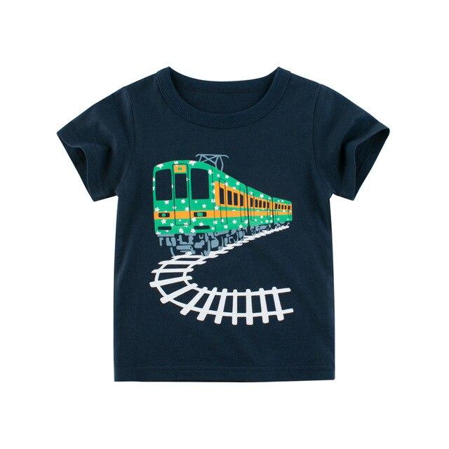 Boys Girls Cartoon T Shirts Children Summer Short Sleeve T Shirt