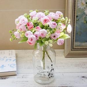 Korean Snowflake Tea roses bouquet for scrapbooking home decoration accessories wedding decorative flowers artificial plants