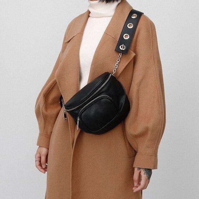 Женские сумки через плечо из искусственной кожи черного цвета