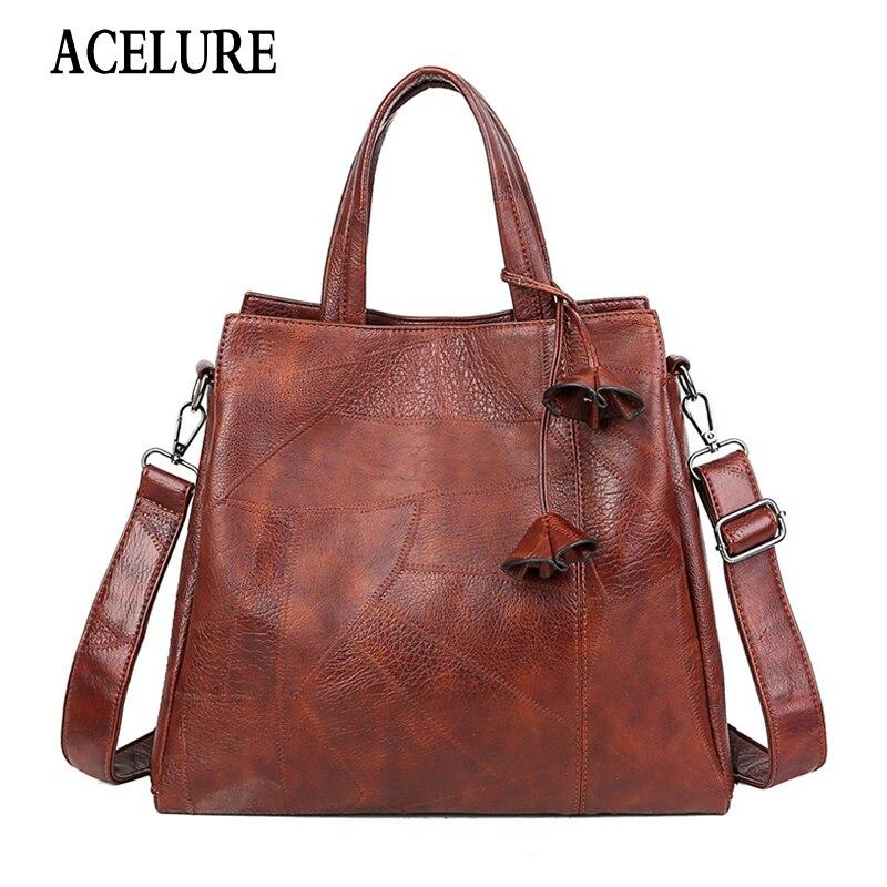 Brand Fashion Women's Shoulder Bag Female Pu Leather Handbag Ladies Bag High Quality Large Tote Bag Ladies Messenger Bag ACELURE