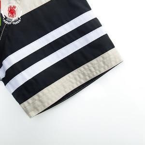 Image 5 - Fredd Marshall 2020 Thời Trang Mới Miếng Dán Cường Lực Áo Sơ Mi Nam 100% Cotton Ngắn Tay Áo Sơ Mi Sọc Homme Camisa Masculina 558932