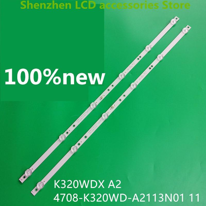 4piece lot  FOR   2T-C32ACSA LCD backlight bar 4708-K320WD-A2113N11 01  K320WDX A2 100percentnew  2PCS A  2PCS B  6v   585mm