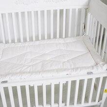 Одеяло для новорожденных, хлопковое постельное белье, детское постельное белье, чистый белый цвет, детская кроватка, одеяло в кроватку, постельное белье, дышащая мягкая детская кроватка