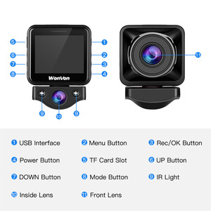 Image 2 - WonVon M5B Car Dash Camera 145° LCD 2.0MP Sony IMX307 IR Night Vision WiFi Dash Cam HD 1080P Dual DVR G Sensor Loop Recorrding
