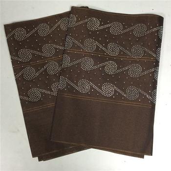 Brown Soft Aso Oke Headtie With Beautiful Stone Nigerian Ladies Headwear African Gele Headtie Wrap 2 meters length for Party  30