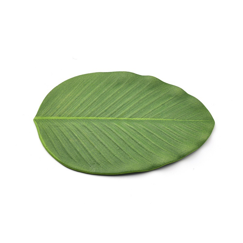Household Daily Practical And Durable Banana Leaf Table Mat Non-Slip Placemat Eva Foam Tropical Rainforest Decoration