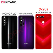 Para Huawei Honor 20/20 Pro/View 20 cubierta trasera de la batería V20 cubierta trasera de la puerta del Panel de cristal para Honor 20 Pro cubierta de la batería