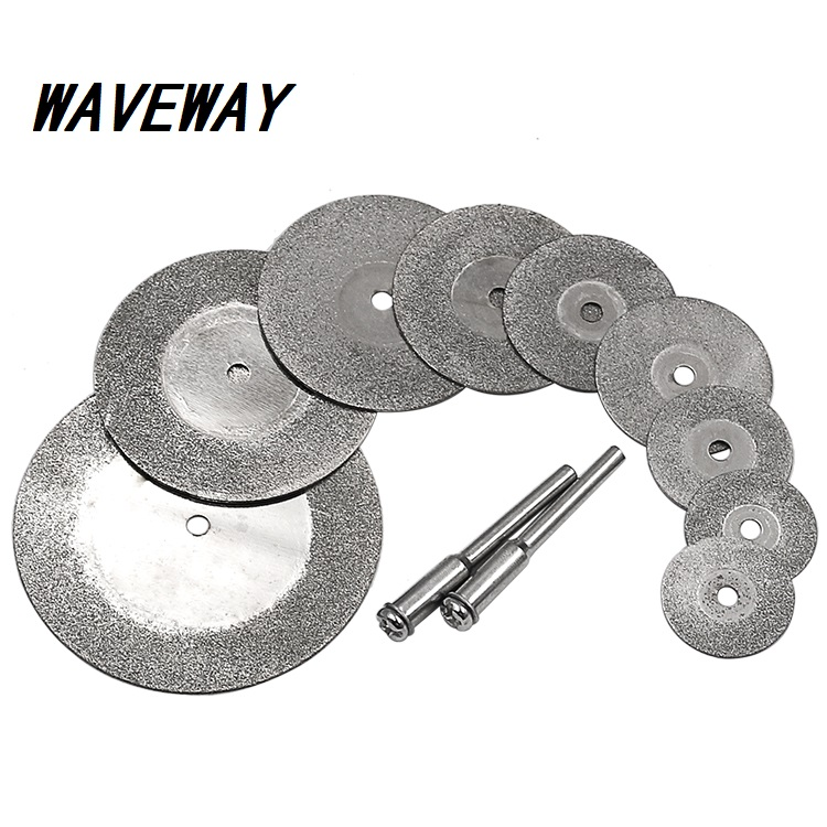 Diamond Cutting Discs & Drill Bit Mini Circular Saw 16-50mm For Rotary Tool Dremel Stone Blade Link Rod