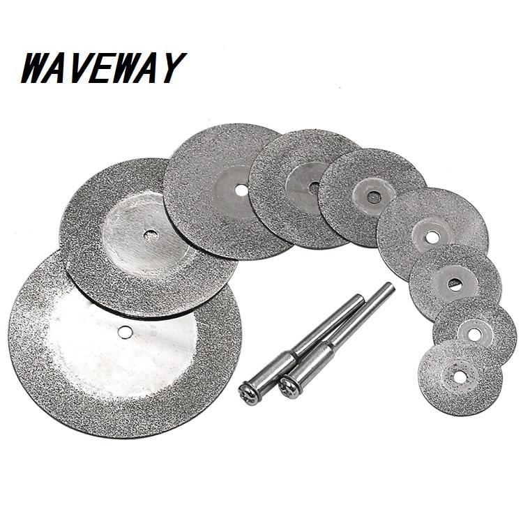 Diamond Cutting Discs & Drill Bit Mini Circular Saw 16-50mm For Rotary Tool Dremel Stone Blade Link Rod
