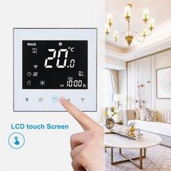 Termostatos digital água/caldeira a gás termostato de aquecimento wi fi controle voz tela sensível ao toque controlador temperatura da sala casa