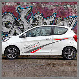 For-KIA-Picanto-Morning-Powered-Sport-Graphics-Sticker-Racing-Styling-Door-Side-Stripes-Auto-Body-Decor