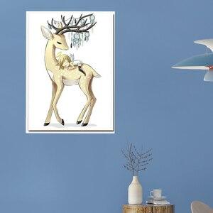 Image 4 - Meian 5D יהלומי ציור מלאך איילים מלא תרגיל יהלומי פסיפס סטי דיאמנט DP ערכות מיוחד בצורת יהלום רקמה בעלי חיים