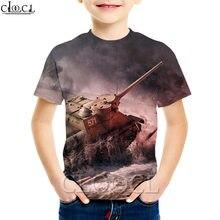 Cloocl/Детские футболки с изображением игры «Мир танков» свитшот