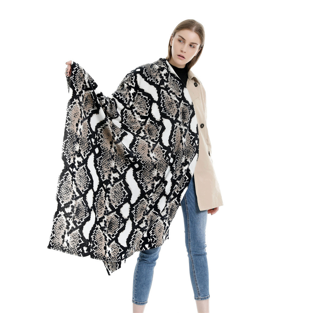 serpentine 3D print sunscreen big wraps Blanket Shawls Snake Long Neck Scarf Women Pashmina Shawl Wrap Scarves bufanda mujer