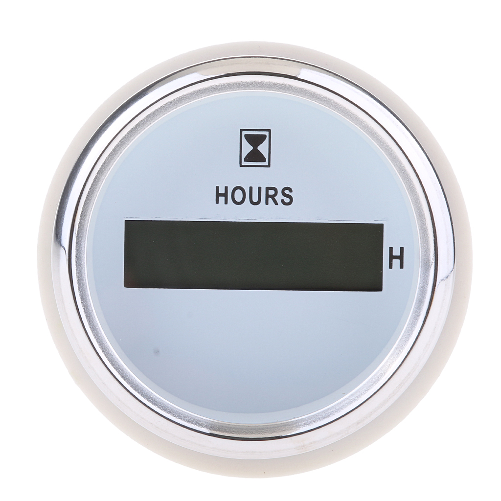 Marine Boat Yacht Car Digital Hour Meter Gauge Heavy Duty 9-32V 52mm 2""