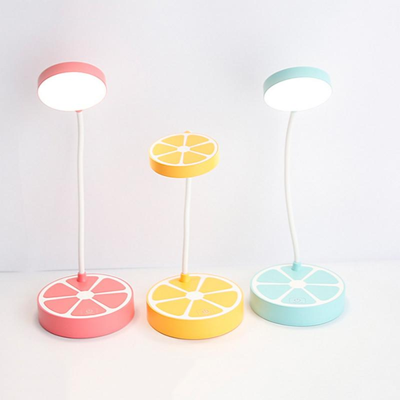 Creative Lemon LED Small Table Lamps Fruit Shape Touching Induction Dimmable Lights Bedside Bedroom Night Lighting 1