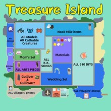 Unlimited trips 1 hour Treasure Island Animal Crossing  Catalog Island