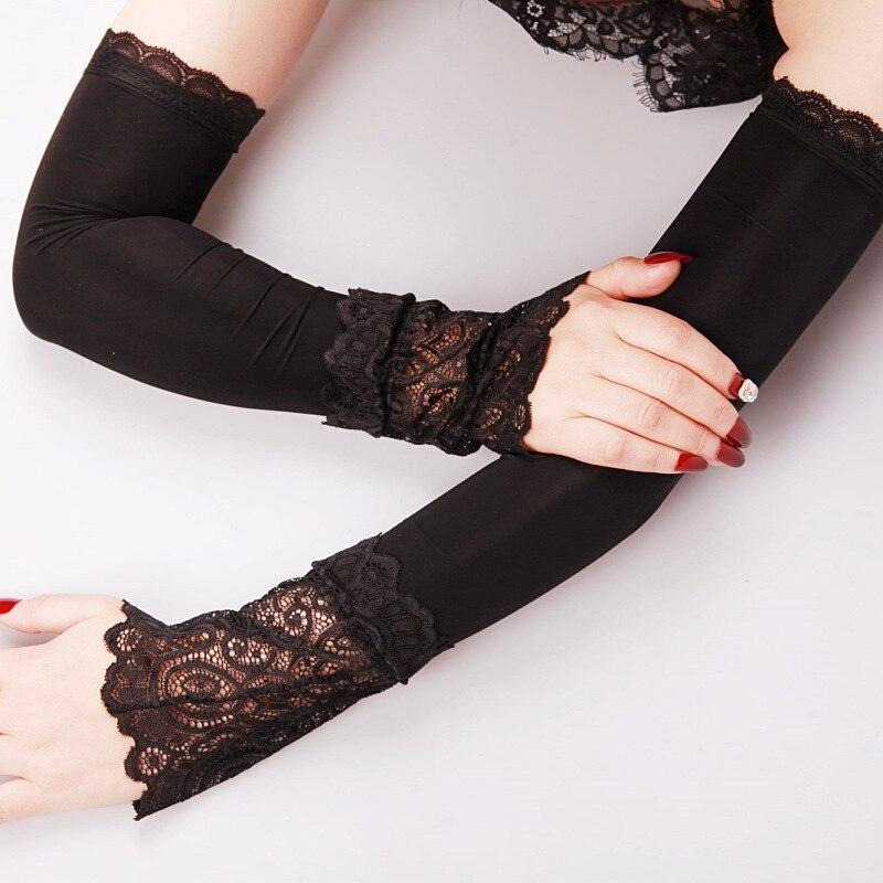 Summer Sun Protection Sleeve Long Arm Cover UV Protection Ice Silk Arm Protection Driving Gloves Fake Sleeves