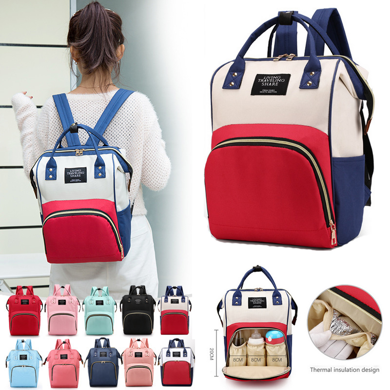 Fashion Baby Bag Backpack For Mummy Large Capacity Bag Mom Baby Multi-function Outdoor Travel Diaper Bags For Baby Care Hand Bag