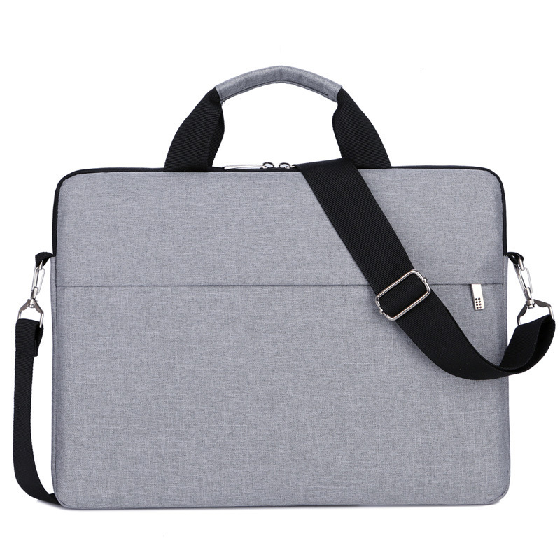 Canvas Briefcase Men Laptop Bag Women For 13 14 15.6 Inch Macbook Pro Travel Waterproof Big Shoulder Handbag Office Bag