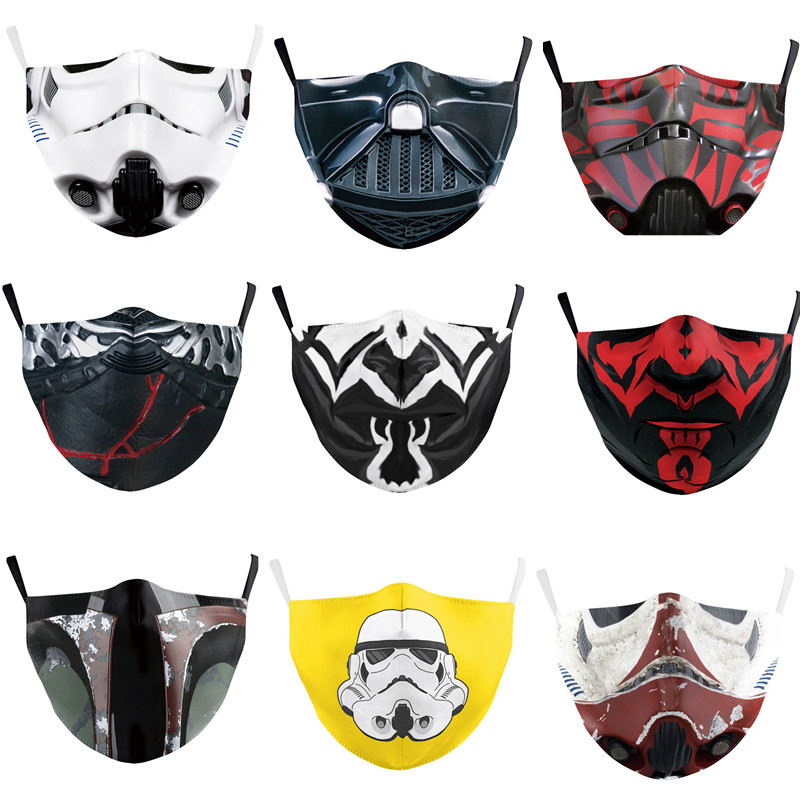 Star Wars Face Mask Darth Vader Mandalorian Cosplay Costume Accessories Anime Adult Masks