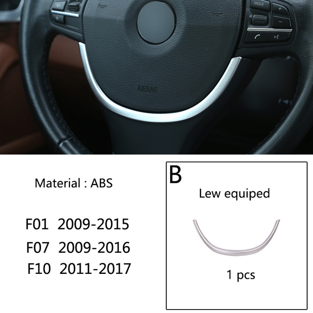 XMSM Steering Wheel Trim Cover Decorative Sticker For BMW 1 3 Series 2014 2015 2016 2017 2018 2019 Car Interior Styling Accessories Decorative Sticker Cover