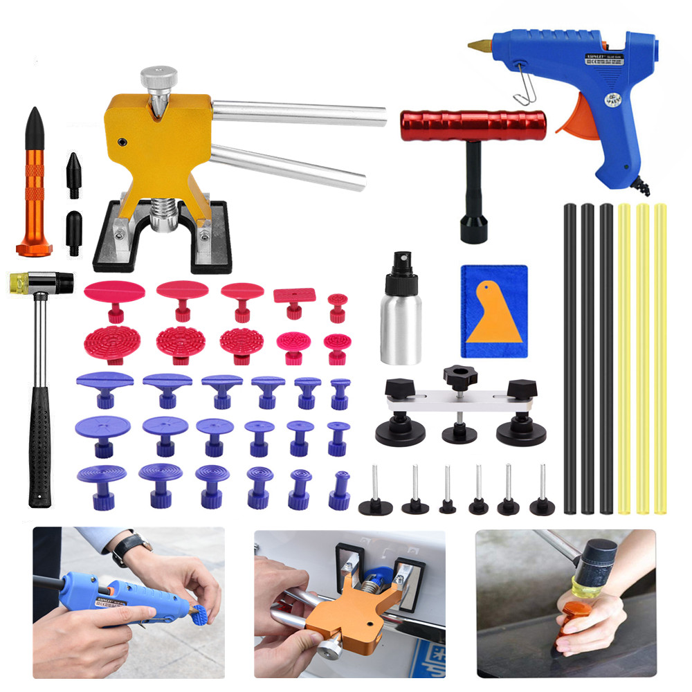 PDR Tools Paintless Hail Dent Repair Removal Dent Lifter Glue Gun PDR Tools Kit Car Repir Tools For Dent