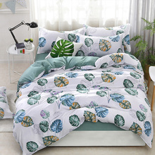 4Pcs Bedding Sets Geometric Pattern Bed Sheet Children Student Dormitory Bed Linings Cartoon Pillowcases Cover Set цены онлайн