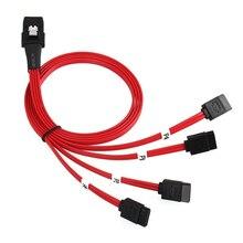 כונן קשיח כבל Connecter תמיכה פנימי מיני SAS SFF 8087 36 פינים כדי 4 SATA 7 פינים כונן קשיח ספליטר כבל אדום