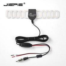 Jiepie universal carro fm antena 20db amplificador 3m cabo pára-brisa antena escondida para caminhão de carro rádio estéreo do carro ativo antena