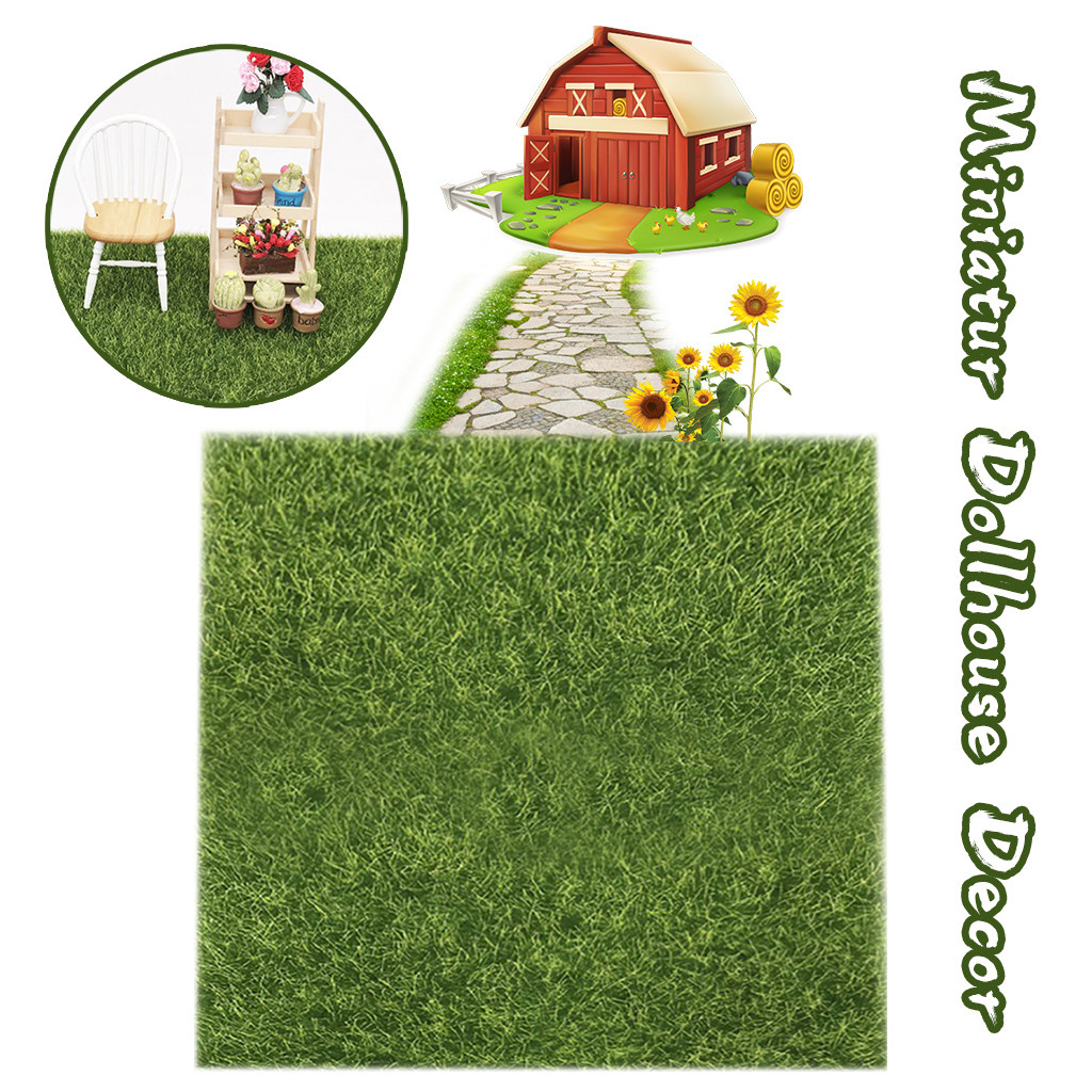 Cute 1:12 DollHouse Miniature Green Plant in White.Pot Garden Patio Yard Access