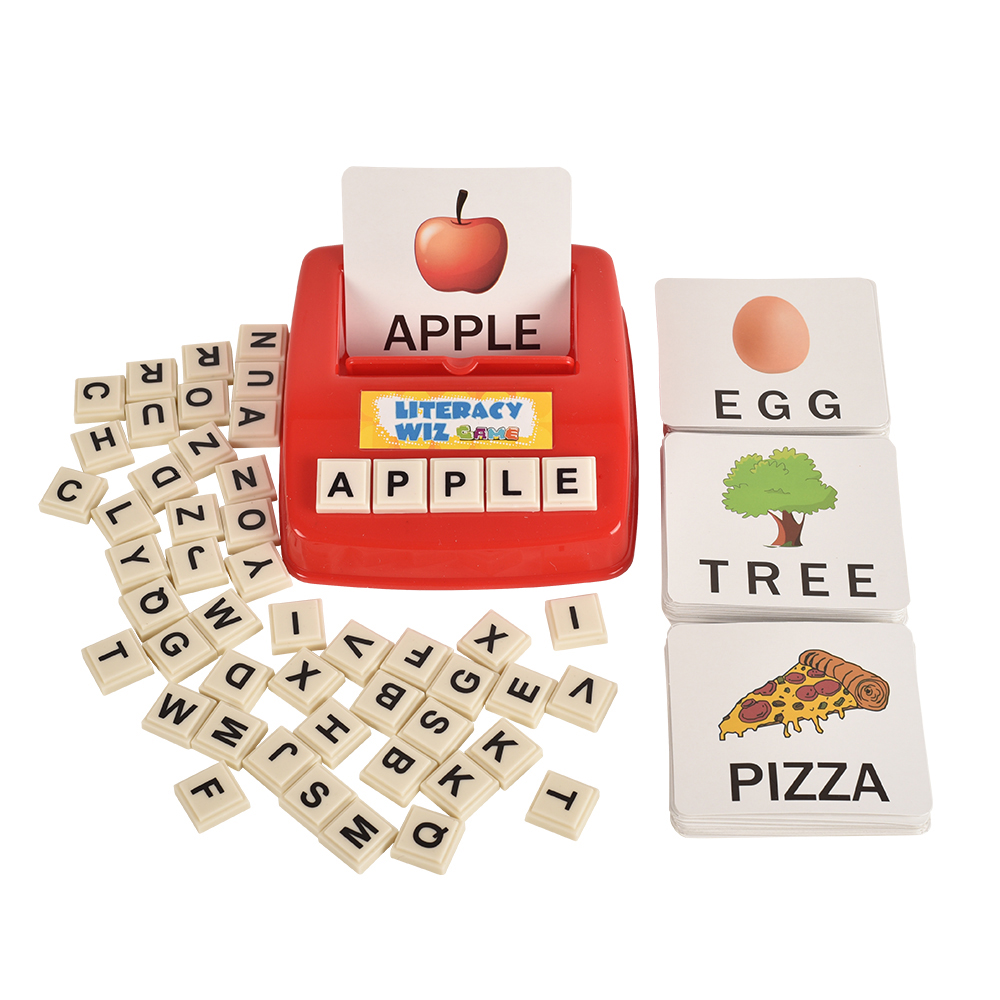 BOHS Literacy Wiz Fun Game-Uppercase Sight Words -60 Flash Cards/120 Words-Preschooler Language Learning Educational Toys Kids