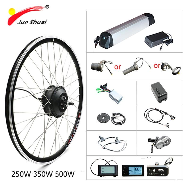 36V 250W500W Elektrische Bike Kit Mit Batterie Hub Motor Vorderrad Motor Ebike Motor Rad Bicicleta Elektrische Elektrische Motorrad