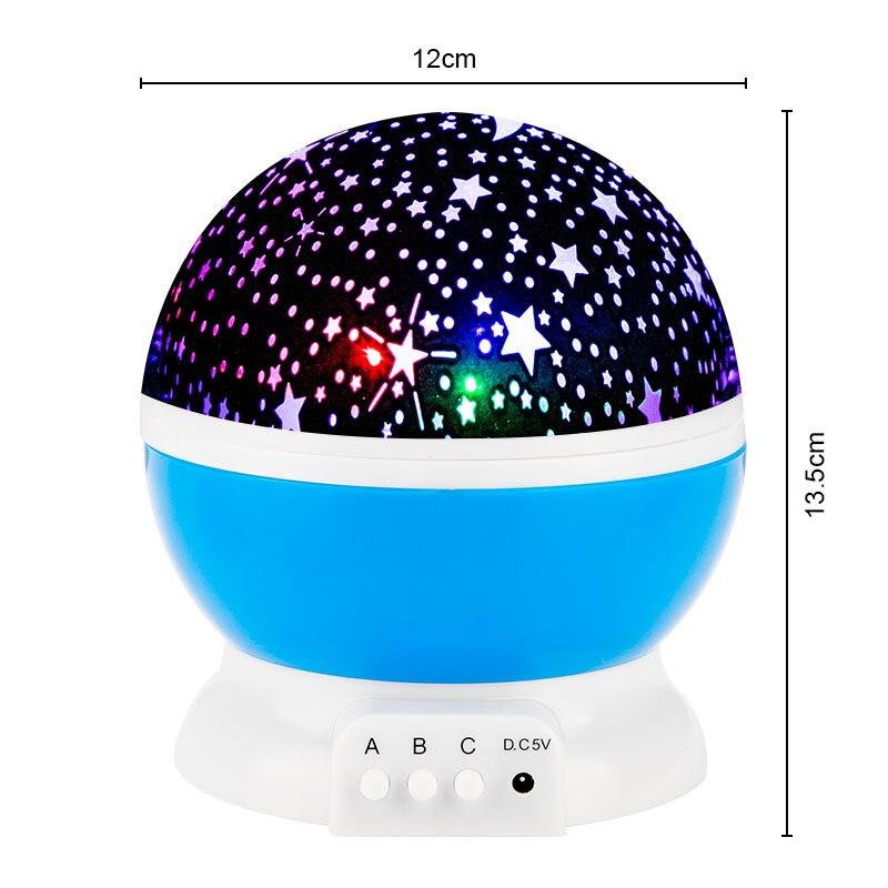 Galaxy Projector Starry Sky Rotating LED Night Light Planetarium Children Bedroom Star Night Lights Moon Light Kids Gift Lamp 3