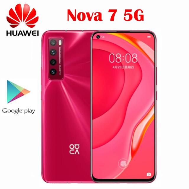 New Official Original Huawei Nova 7 5G Smart Phone 6.53inch OLED Screen Kirin 985 64.0MP 2400x1080P NFC 4000Mah 40WFast charge