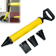 1 Set Stainless Steel Caulking Gun Manual Grout Pump Grouting Mortar Sprayer Applicator Tool Cement Filling Tools with 4 Nozzles