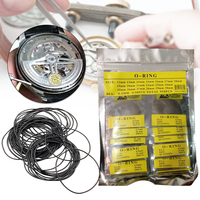 0.5/0.6/0.7mm diâmetro borracha o anel à prova dwaterproof água relógio redondo volta junta de borracha selo arruelas definir relógio ferramenta de reparo 12 30mm peças de relógio|Kits e ferramentas de reparo| |  -