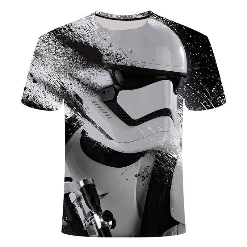 2019 t-shirt Homme Camisetas Hombre nouveauté Star Wars un nouvel espoir Robot hommes T-Shirts 3D impression mâle drôle T-Shirts S-5XL