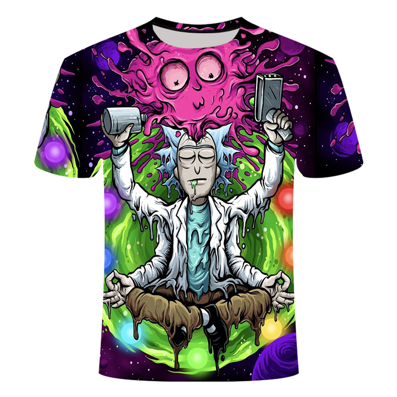 Rick And Morty By Jm2 Art 3D T Shirt Men Tshirt Summer Anime T-Shirt Short Sleeve Tees O-neck Tops Drop Ship