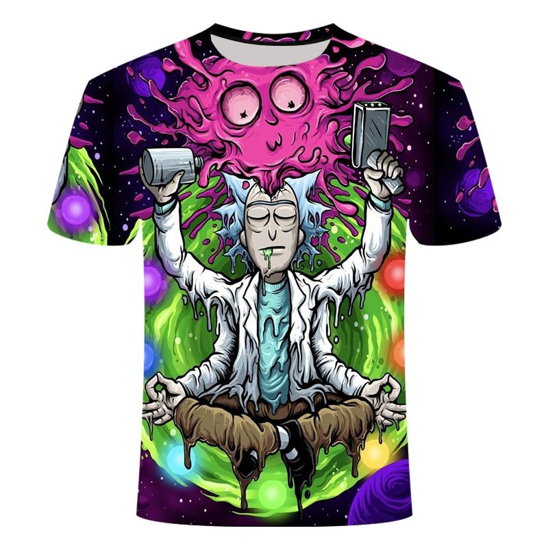 Rick And Morty By Jm2 Art 3D T Shirt Men Tshirt Summer Anime T-Shirt Short Sleeve Tees O-neck Tops Drop Ship