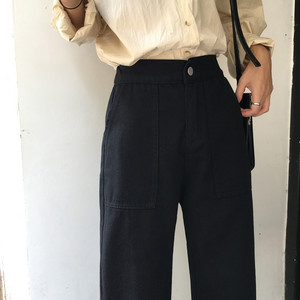 Image 5 - กางเกงยีนส์ผู้หญิงสูงเอวหลวมๆหลวมๆกางเกงขากว้างสตรีนักเรียน DENIM แฟชั่นสไตล์ใหม่ทั้งหมด  match CHIC