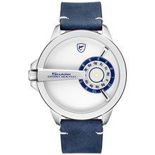 DESH109 316 Stainless steel PU Leather Quartz Watch Sports W