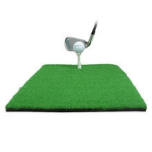 Buy New Indoor Golf Practice Mat Residential Training Artificial Grass Golf Exercise Mat Practice Rubber Tee Holder Golf Mat Pad directly from merchant!
