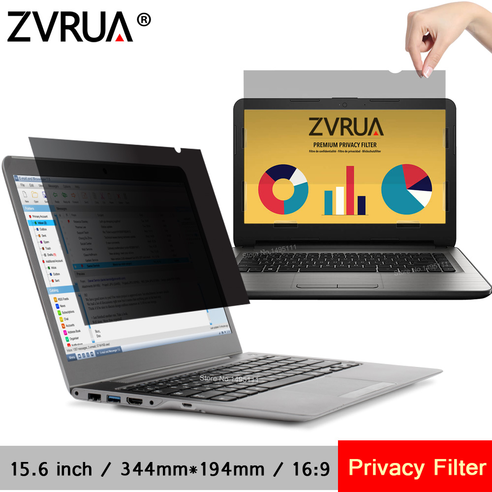 15.6 inch 344mm*194mm Privacy Filter For 16:9 Laptop Notebook computer Anti-glare Screen protector Protective film 1