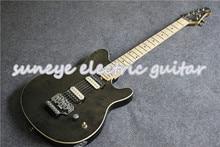 купить Grey Quilted Finish Electric Guitar Music Man Style Guitarra Electrica Custom DIY Guitar Kit Custom Available дешево