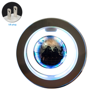 4 Inch Home Desktop Decorative Gift World Map Auto Rotating Office Led Magnetic Levitation Anti gravity Floating Globe Earth