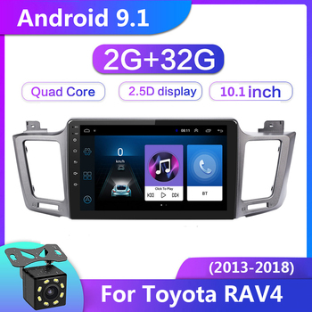 10 inch 2 din Android 9.1 Car Radio for Toyota RAV4 RAV 4 2013-2018 Multimedia Video Player Navigation GPS 2Din Head Unit Stereo image